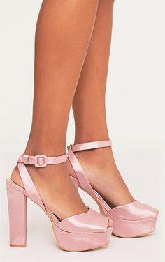 5ee100d6188b Dianne Pink Satin Platform Heels
