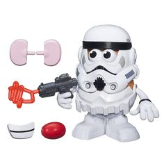 "A Mr. Potatohead ""spud"" trooper who may be holding a laser potato masher? I'm not totally sure."
