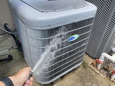 Keep Your House Cooler With a Quick 10-Minute Clean of Your Air Conditioner   The Art of Manliness Art Of Manliness, Garden Hose, How To Find Out, Conditioner, Cleaning, Red, House, Home, Home Cleaning