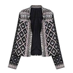 Yoins Vintage Bomber Jacket ($15) ❤ liked on Polyvore featuring outerwear, jackets, yoins, blazers, black, vintage jackets, floral bomber jacket, vintage flight jacket, flight jackets and floral blazer jacket