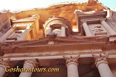 """Trip to Petra from Sharm El Sheikh by bus and boat. Petra is the famous rose-red rock city in Jordan. Walking through the canyon (Siq), the Treasury (Al Khazneh), the Roman Theatre and the Royal Tombs """"King Wall"""". Enjoy an unforgettable day at these impressive historical sites. http://gosharmtours.com/petra-from-sharm-el-sheikh-excursion-by-boat/"""