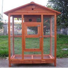 ideas for wooden bird cage barn wood Bird Cage Design, Diy Bird Cage, Large Bird Cages, Canary Birds, Bird House Feeder, Bird House Kits, Bird Aviary, Cat Enclosure, Wood Bird