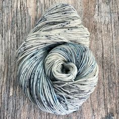 2 available ~Now available on Whopper! Undyed/bare yarn with a few speckles. The perfect neutral. These skeins are MASSIVE! They weigh around 9 ounces (250gm) each and have over 460 yards. ...