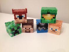 Achievement Hunter Perler Heads by RetroNinNin on DeviantArt Fuse Beads, Perler Beads, Stampy And Squishy, Minecraft Essentials, Minecraft Perler, Crafts To Make, Diy Crafts, 3d Perler Bead, Achievement Hunter