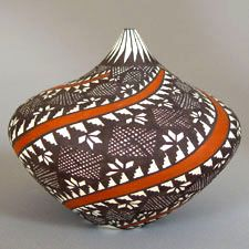 Acoma Pueblo Pottery in Maine - Presenting both traditional and contemporary pottery by Acoma artists. Southwest Pottery, Southwest Art, Native American Pottery, Native American Art, Pottery Sculpture, Pottery Art, Vases, Pots, Pueblo Pottery