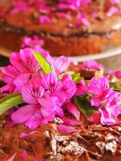 Pelargonium and wild mint cake at Forage Harvest Feast in Cape Town