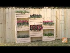 How To Build a Vertical Garden Wall - more space to garden in small yards!