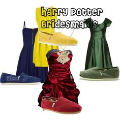 """""""Harry Potter Bridesmaids"""" I know how blown your mind is, but you know this has to happen at your wedding know"""