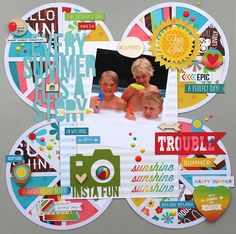 Every Summer Has a Story - Scrapbook.com - Made with Good Day Sunshine collection by Simple Stories.