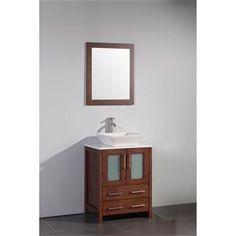 """Check out the Vanity Art WA7824 24"""" Solid Wood Sink Vanity with Mirror - Vanity Top Included priced at $661.05 at Homeclick.com."""