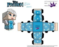 Elsa From Disney's Frozen cubeecraft Template P2 by SKGaleana (has many other disney characters as well)