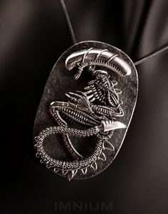 Alien Fossil, wire wrapped   by ~IMNIUM (This one's for Keith)