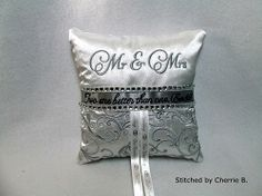 Elegant Ring Bearer Pillow, In The Hoop | In the Hoop | Machine Embroidery Designs | SWAKembroidery.com