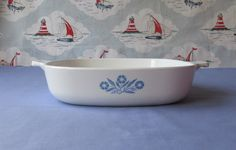 Vintage Pyrosil Ware 9 inch Casserole Dish. 1960's/70's by NoodlesVintageThings on Etsy