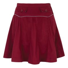 Natalie Pleated Skirt Burgundy, $39, now featured on Fab.