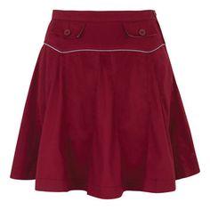 Natalie Pleated Skirt Burgundy