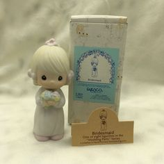 """Bridesmaid"" Vintage Precious Moments Bridesmaid figurine E-2831"