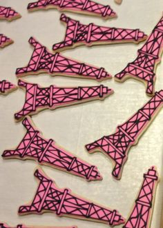September is almost here, time for pARIS!!   Fashion Party in Paris Eiffel Tower Sugar Cookies. $28.00, via Etsy.