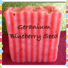 All Natural Geranium and Blueberry Seed by CharibellesFunnyFarm