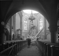 FINLAND (now RUSSIA). February The city's cathedral, after being bombed. Vyborg was heavily bombarded during the Winter War. After the end of the Continuation War, the cathedral, still in ruins, was torn apart by the Soviets. Rare Historical Photos, Night Shadow, Total War, Life Goes On, Interesting History, Second World, Coups, Vintage Photographs, World War Ii