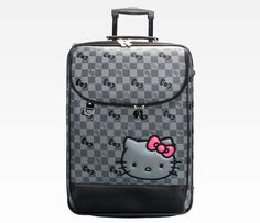 Hello Kitty Rolling Travel Case: Grid Awsome piece to make a long trip! accesible pockets to fit things in!