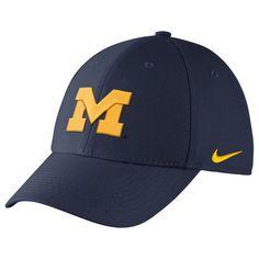 546e620ba3f Michigan Wolverines Nike Swoosh Performance Flex Hat - Navy - Fanatics.com