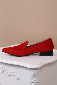 7758db22ba5 Loretta Red Classic Loafers. Virgo Boutique Fashion · Women s Fashion Shoes