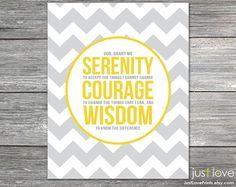 The Serenity Prayer  8x10 Print  Inspirational by JustLovePrints, $12.50