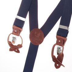 Bretelles large bleu marine avec empiècements cuir amovibles  Navy Large Superior Suspenders with leather  http://www.lecolonelmoutarde.com/fr/bretelles/bretelles-superior-bleu-marine-35-mm-503.html