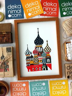 Lovely Onion Palace Art Print Illustration Travel by dekanimal