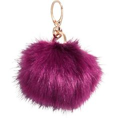 H&M Keyring ($2.92) ❤ liked on Polyvore featuring accessories, keychains, cerise, key chain rings, pom pom key chain, h&m and ring key chain