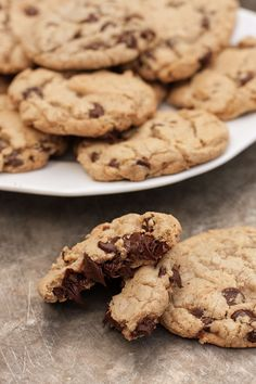 perfect dairy-free, gluten-free chocolate chip cookies