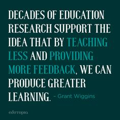 Wise words from a wise man. RIP Grant Wiggins.