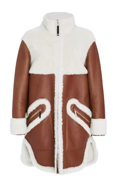 Long Sleeve Shearling Coat by Maison Ullens