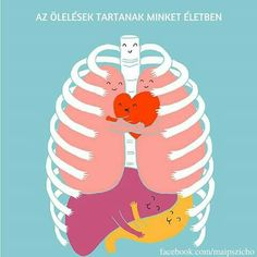 """""""Hugs Keep Us Alive"""" by Lim Heng Swee. I would like to print this on a shirt and wear it during my Anatomy class."""