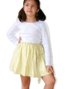 Yellow skirt for girls Size 6T 7 Fashion by QuickFashionSkirts, $29.00