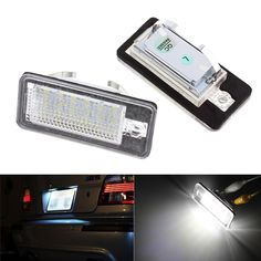 11.47$  Buy now - http://ali8ow.shopchina.info/1/go.php?t=32811420512 - 2Pc Car LED License Plate Lights 12V SMD3528 Number Plate Lamp Bulb Kit For  Audi A6 C6 Q7 A4 B7 A4 B6 8E A3 S3 A8 S8 S6 RS4 RS6  #buyonlinewebsite