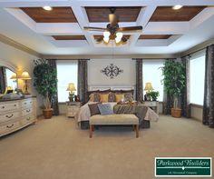 Spacious master bedroom in the Villa Nova model home
