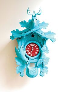 This reminds me of a cuckoo clock that HGTV DesignStar Antonio Ballatore would put together.