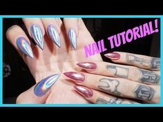 """CHROME & HOLOGRAPHIC NAILS: Step by Step Tutorial 