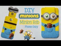 DIY Minion Bob Phone Cozy - YouTube