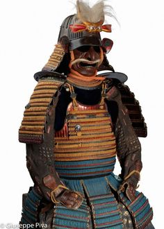 Japanese armor with multicolored finish