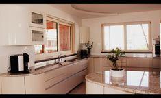 Designerküche mit runden Elementen Kitchen Cabinets, Home Decor, Interior Design, Home Interior Design, Dressers, Home Decoration, Decoration Home, Kitchen Cupboards, Interior Decorating