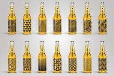 Screen-Printed Geometric Designs Mean No More Beer Bottle Labels