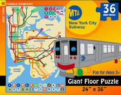 MTA Subway Map Floor Puzzle
