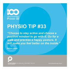 choose to stay active #physiotips