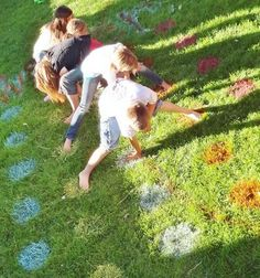 Lawn Twister!!! Make it bigger so more people can play