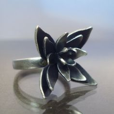 OOAK Blossom Ring by Lisa Hopkins Design