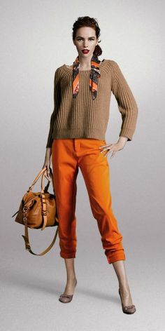 1 Calça Laranja = 4 Looks - 1 Orange Pants = 4 Looks