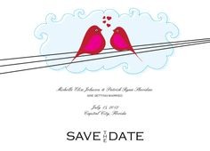 Love on a Wire Save the Date Card